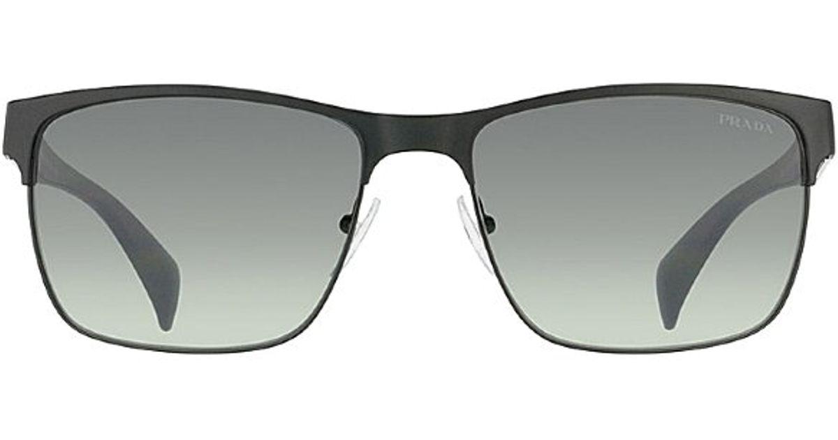 a0d784fff4a3 ... netherlands lyst prada pr 51os fad3m1 matte black fashion metal  sunglasses in black 25a7c 74f75