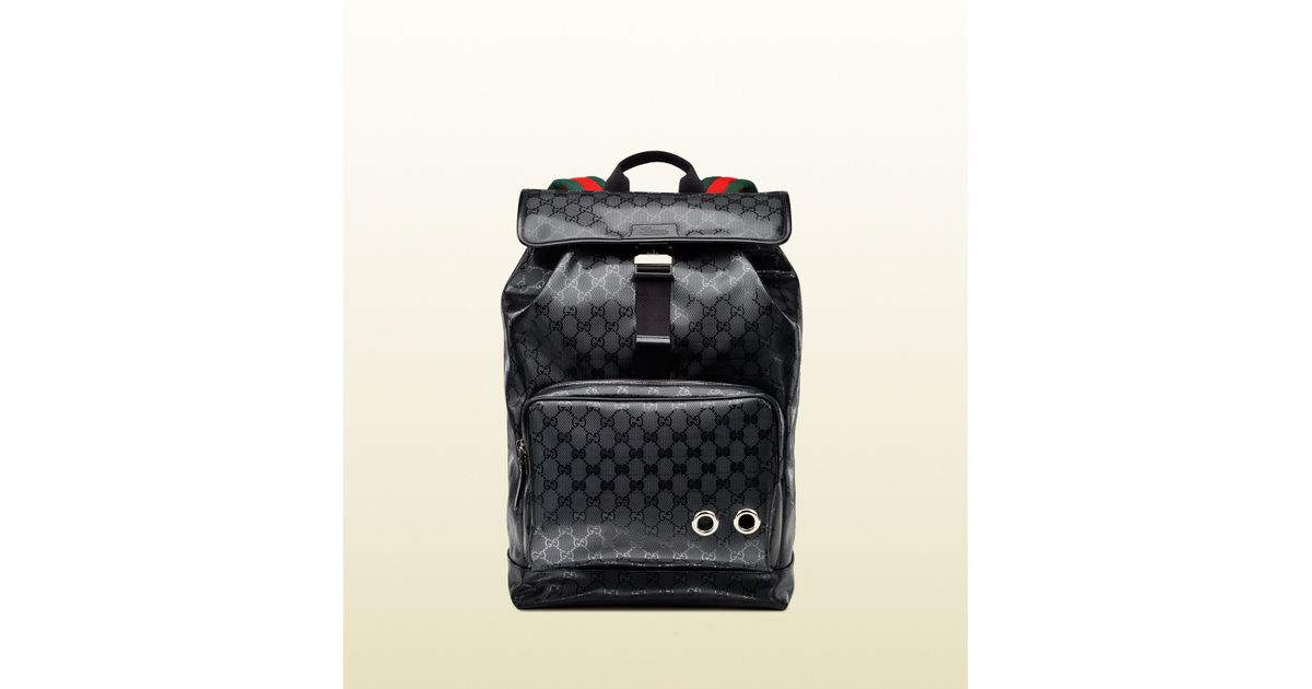 4cac6bcc019 Lyst - Gucci 500 By Gg Imprimé Backpack in Black for Men