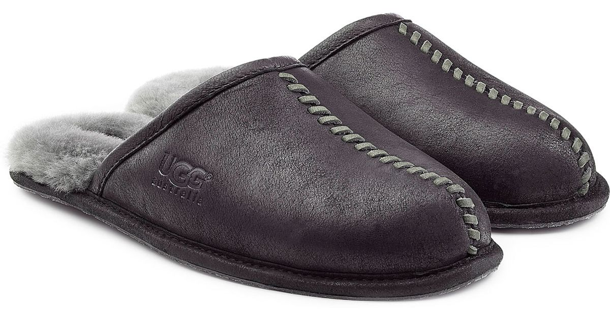 51d35f5d216 Ugg Australia Scuff Slipper Mens Black Suede - cheap watches mgc-gas.com