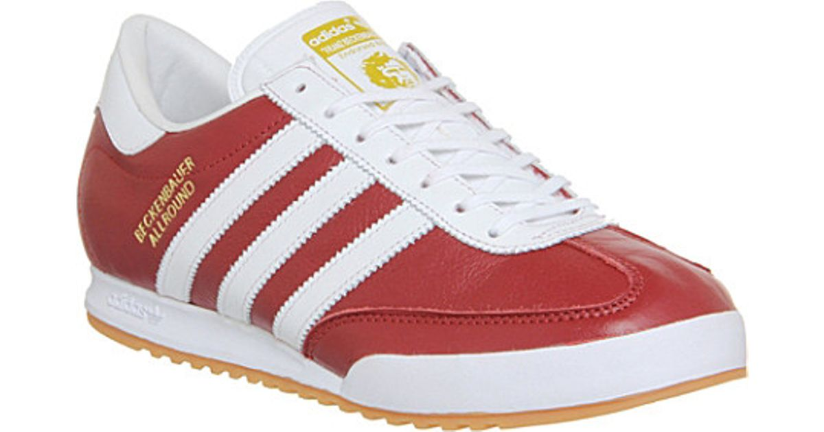 f4b5c9a954f adidas Beckenbauer Trainers - For Men in Red for Men - Lyst