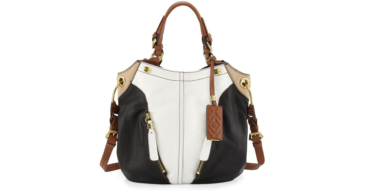 ef2a7afe5ed6 orYANY - Victoria Colorblock Shoulder Bag White Multi - Lyst