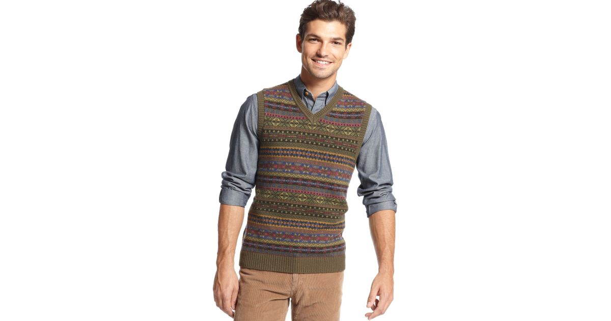 Lyst - Tommy hilfiger Harry Fair Isle Sweater Vest for Men