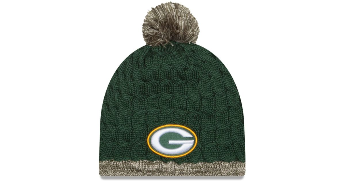 Lyst - Ktz Women s Green Bay Packers Salute To Service Knit Hat in Green 9c55b5bf3