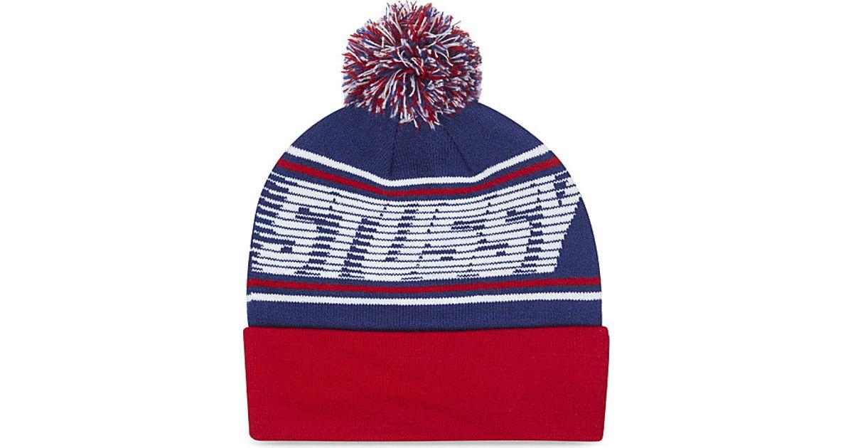 Stussy Speedway Pom Pom Beanie Hat in Blue for Men - Lyst 457a7204778e