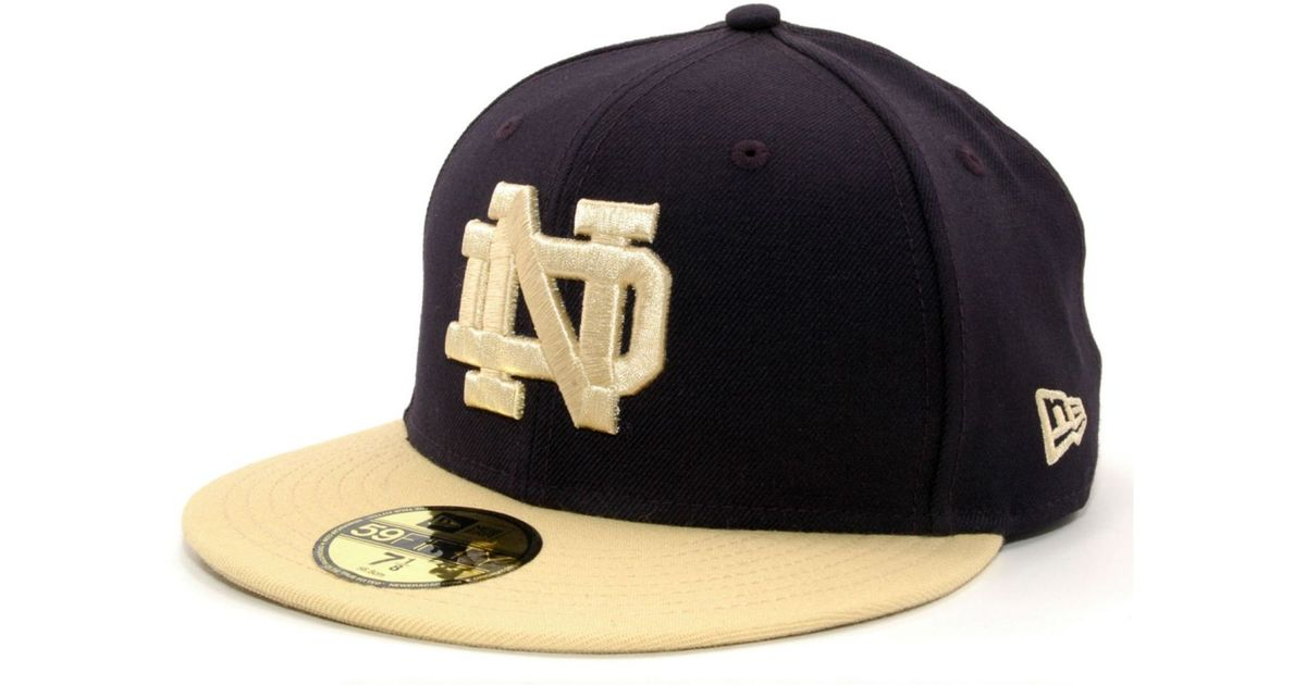71cd4f2ac6b Lyst - KTZ Notre Dame Fighting Irish Ncaa 2 Tone 59fifty Cap in Blue for Men