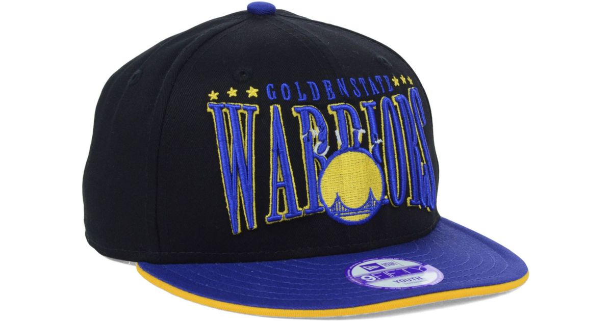 newest collection 874e3 d26e1 ... closeout lyst ktz kids golden state warriors hardwood classics 9fifty  snapback cap in blue for men