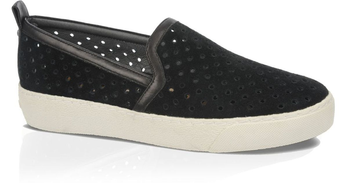 1589fa1cf72b1d Lyst - Sam Edelman Perforated Sneakers - Bea in Black