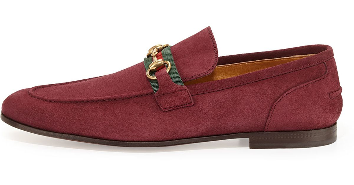 edf36c026047 Lyst - Gucci Suede Horsebit Loafer in Purple for Men