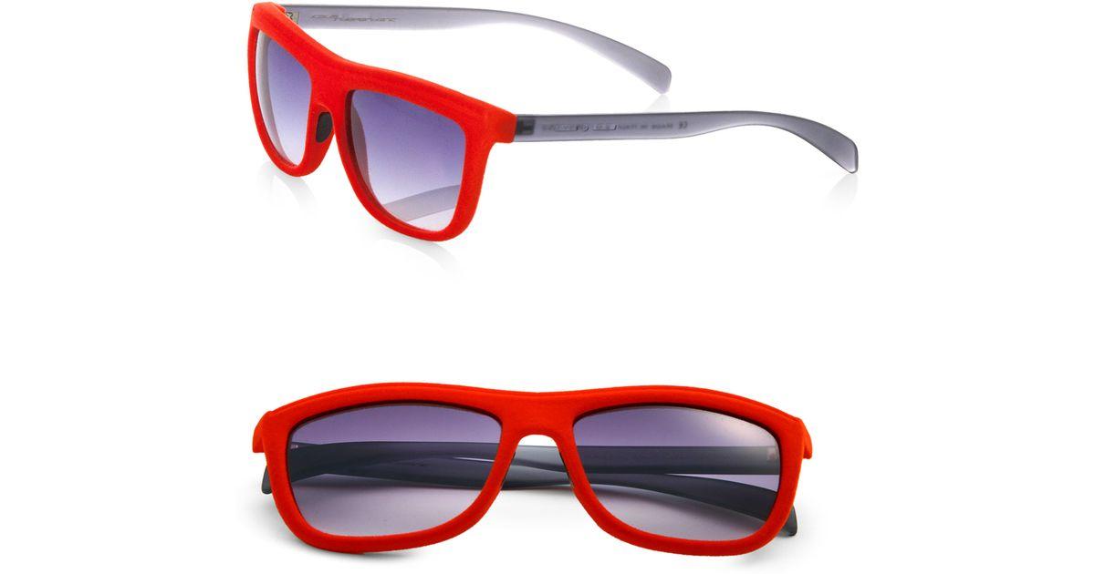 4dea21e0376b Italia Independent Velvet Square Sunglasses in Red for Men - Lyst