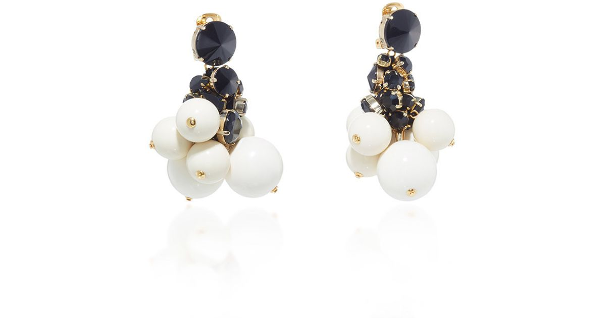 Marni Pearls Mono Earring in Lilly White Metal TNmpnoiEN