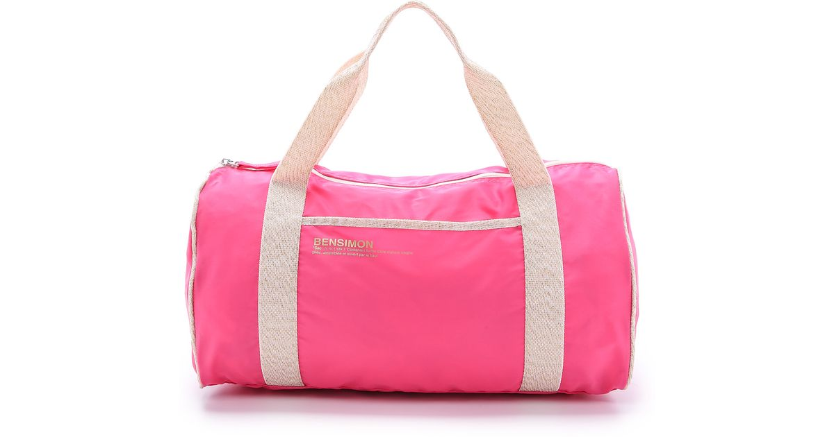 bensimon color duffel bag bright blue in pink lyst - Bensimon Color Bag