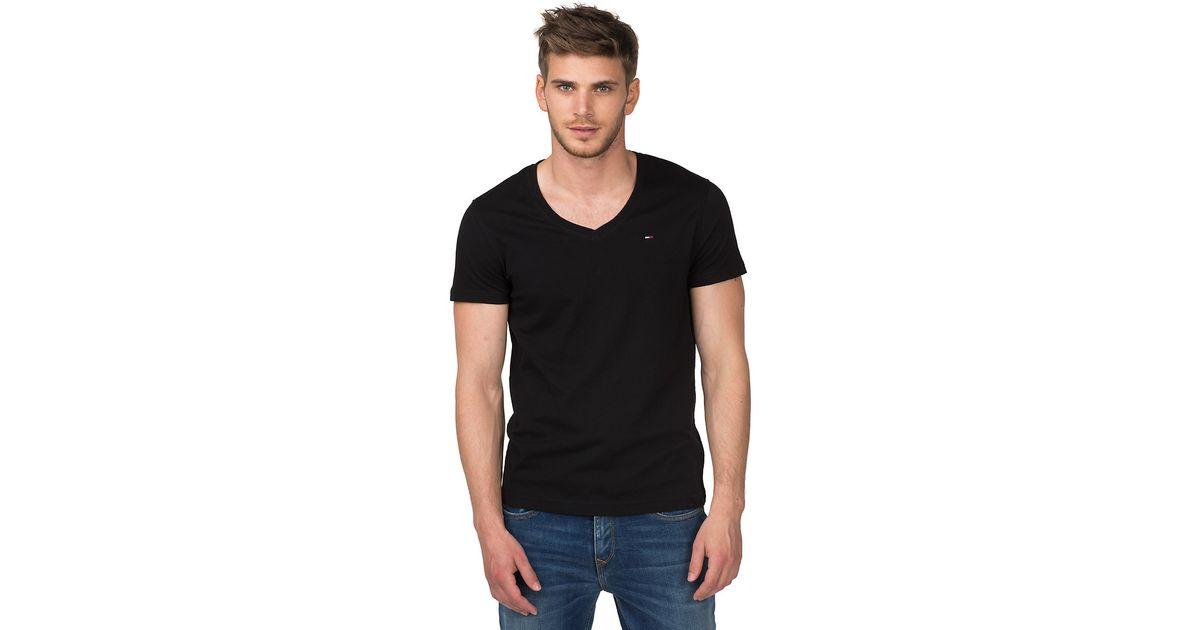 d998b9327 Tommy Hilfiger Panson V-neck T-shirt in Black for Men - Lyst