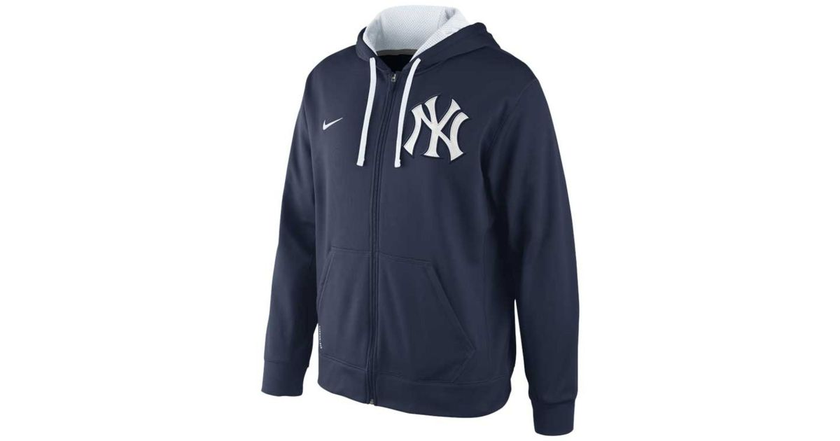cfe22f8c2e3 Lyst - Nike Men S New York Yankees Therma-Fit Full-Zip Hoodie Sweatshirt in  Blue for Men