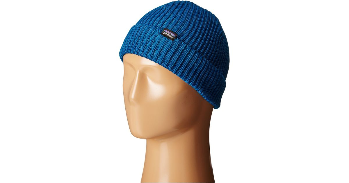 0f4608367ee Lyst - Patagonia Fishermans Rolled Beanie in Blue for Men