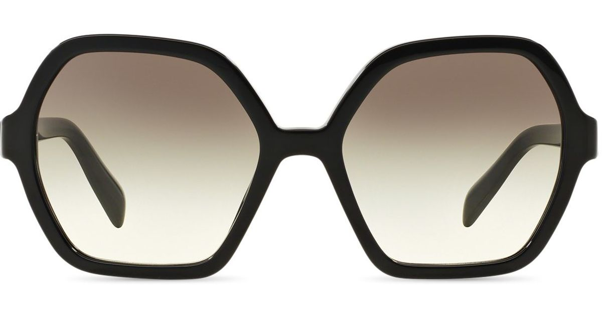 e4fb46abe06 Lyst - Prada Oversized Octagon Sunglasses in Black