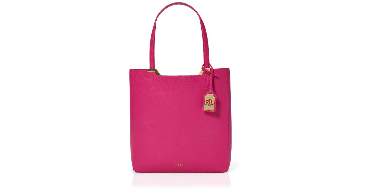 Ralph Lauren Tote Laukku : Pink pony lauren large acadia tote in bright rose