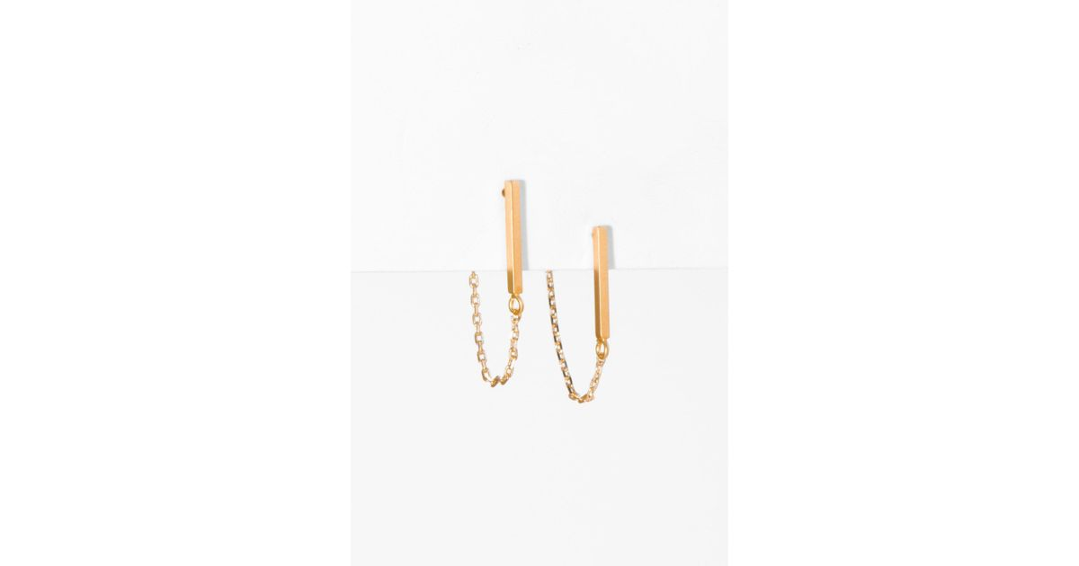 7 For All Mankind Five And Two Jill Earrings In Gold J6usqjbGP