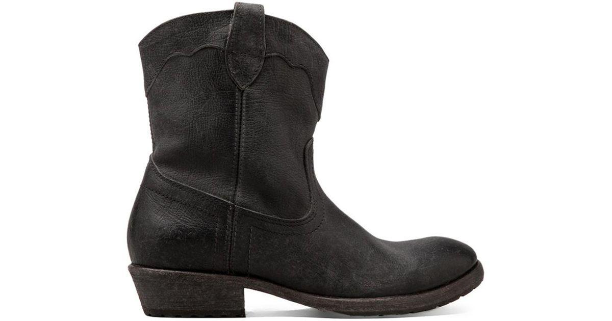 b4a8abd164a Lyst - Frye Carson Lug Short Boot in Black