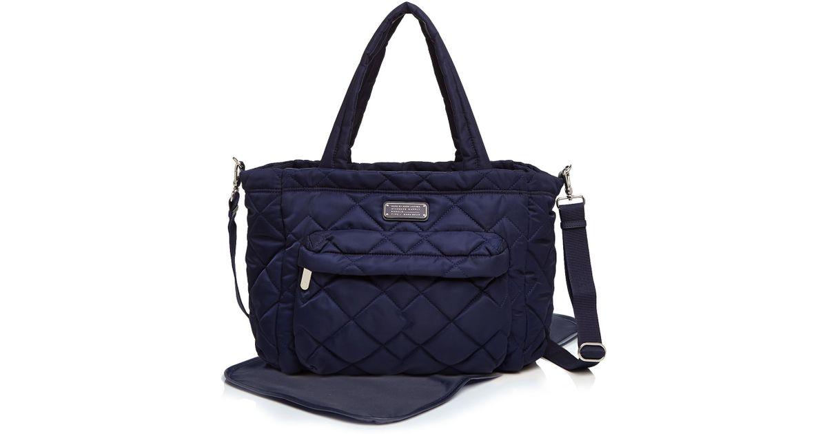 marc by marc jacobs diaper bag crosby quilt nylon elizababy in blue lyst. Black Bedroom Furniture Sets. Home Design Ideas