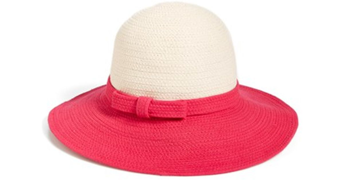 7f0f64ced3bdf Lyst - Kate Spade  fancy Meeting You  Sun Hat in Pink