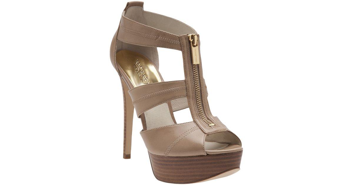 5cd4bda90ba Lyst - MICHAEL Michael Kors Berkley Platform Sandal in Brown
