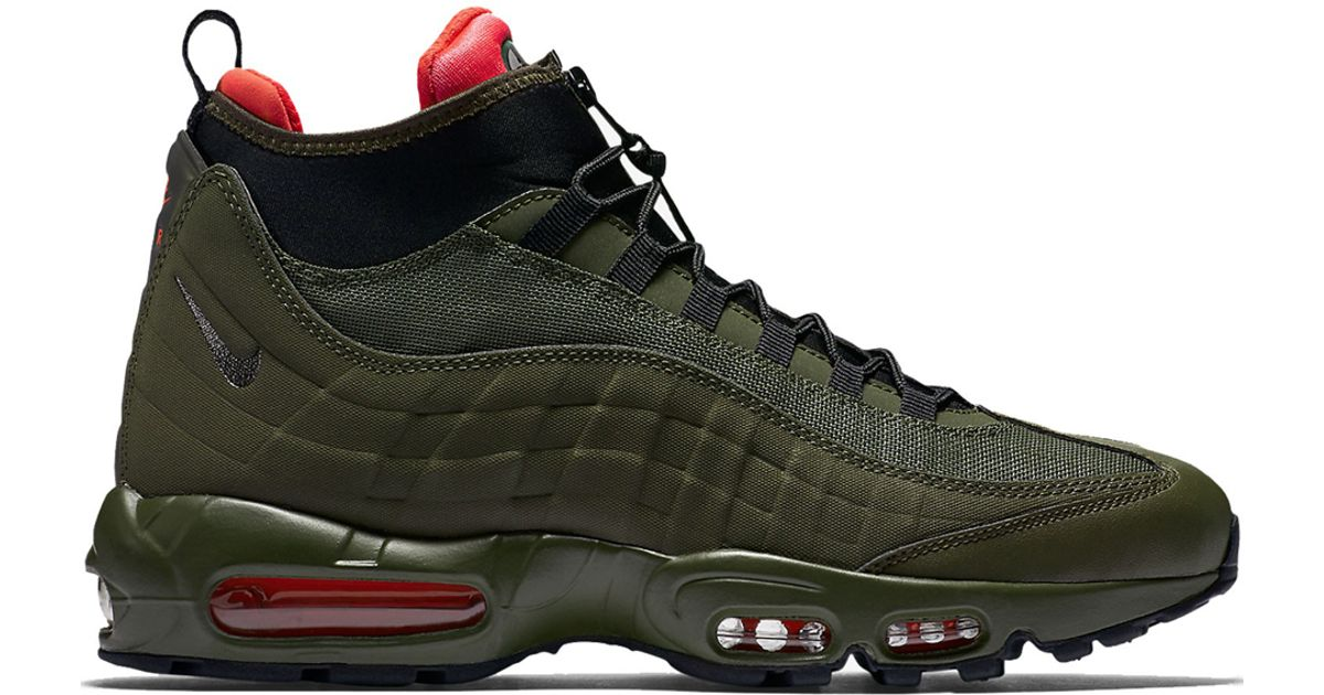 ca6abe929a2e77 uk lyst nike air max 95 sneakerboot in green for men 4c7ba c27cc