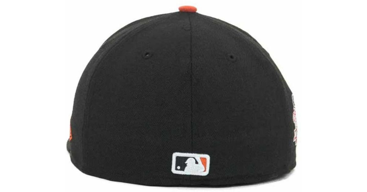 low priced f6c66 de4a4 ... ireland lyst ktz san francisco giants mlb retro world series patch 59fifty  cap in black for