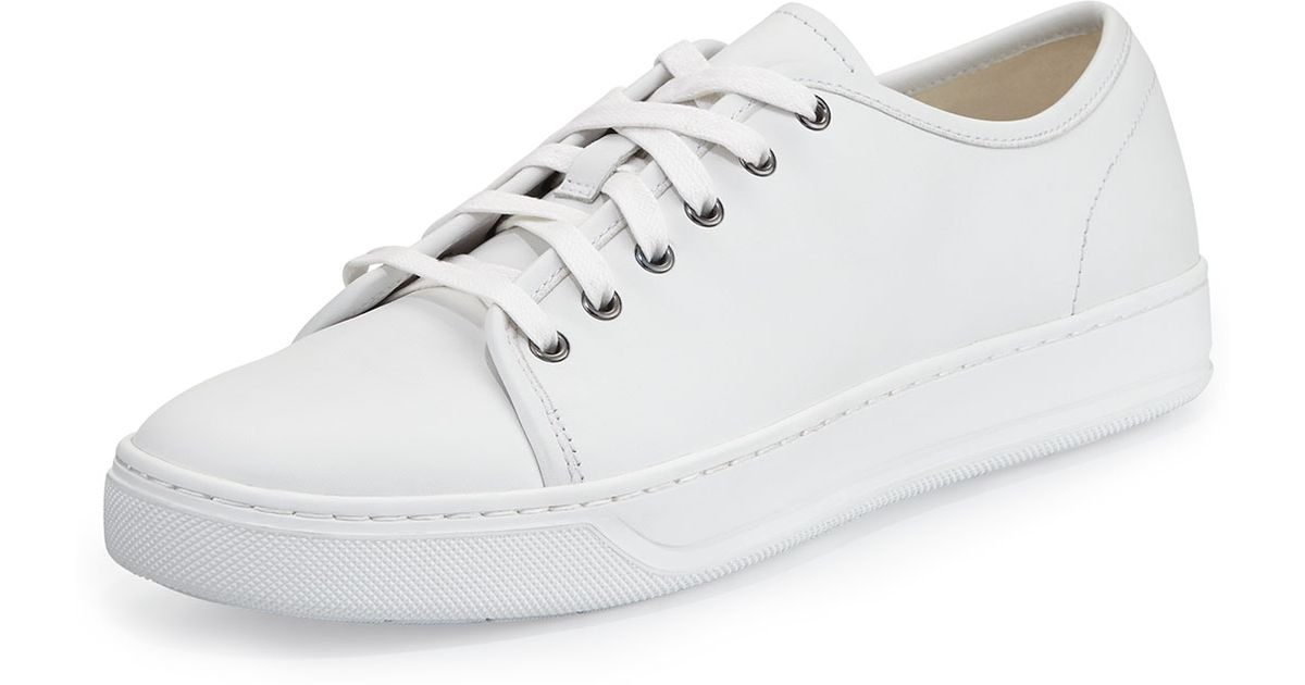 fa752e6408eb Lyst - Vince Low-Top Calf Leather Sneaker in White
