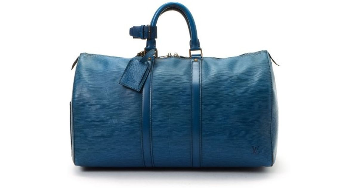 5f8f0fb0084f Lyst - Louis Vuitton Guaranteed Authentic Pre-owned Keepall 45 in Blue for  Men