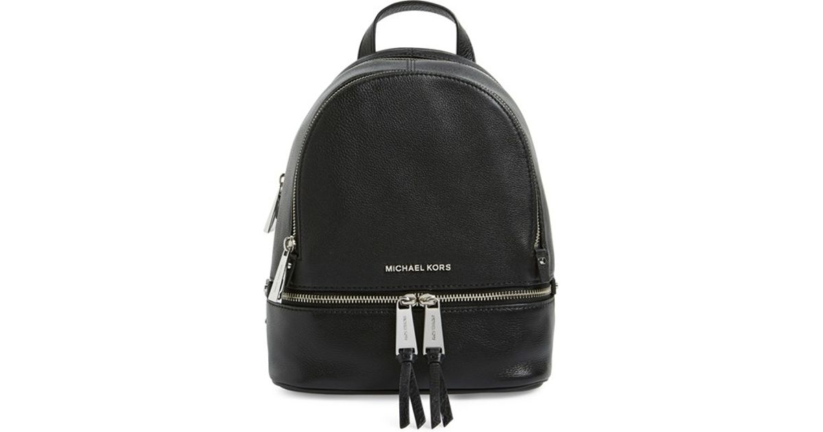 e2ea2c70baf438 MICHAEL Michael Kors 'extra Small Rhea' Leather Backpack in Black - Lyst