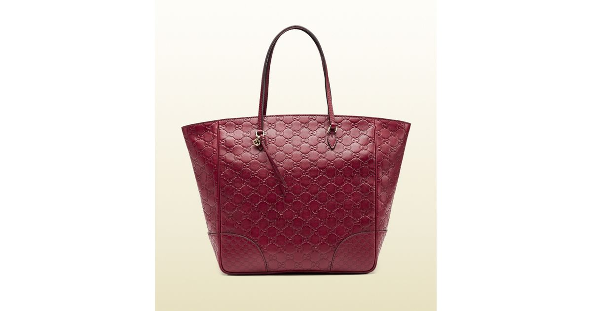 b7ccb9eef Gucci Bree Ssima Leather Top Handle Bag in Purple - Lyst