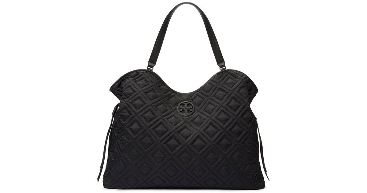 Tory burch Marion Quilted Slouchy Baby Bag in Black | Lyst : marion quilted tory burch - Adamdwight.com