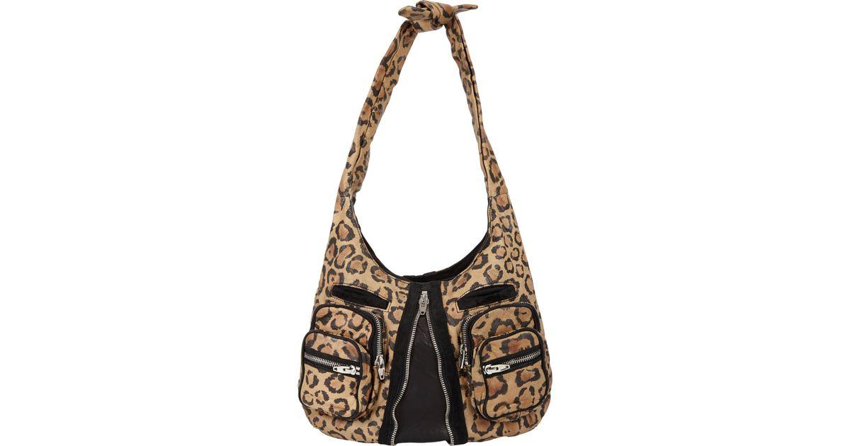 9365aea8f71a Lyst - Alexander Wang Leopardprint Donna Shoulder Bag
