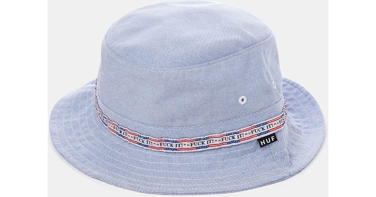325faacfd99 Huf F ck It Oxford Bucket Hat - Blue in Blue for Men - Lyst