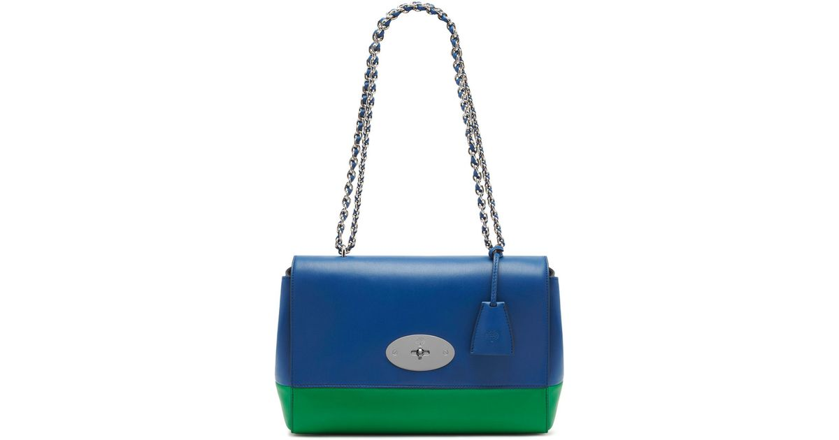 97004efe0867 ... calf leather ireland lyst mulberry medium lily in green 987fe 3b1e5 ...