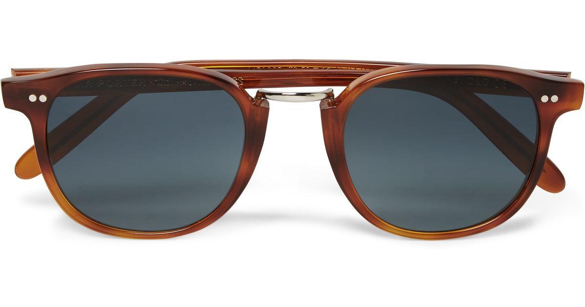 111d1ffbf1 Cutler   Gross D-frame Tortoiseshell Acetate Sunglasses in Brown for Men -  Lyst