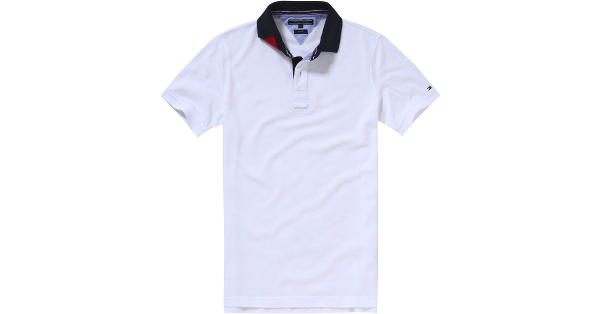 tommy hilfiger terence polo shirt in white for men lyst. Black Bedroom Furniture Sets. Home Design Ideas
