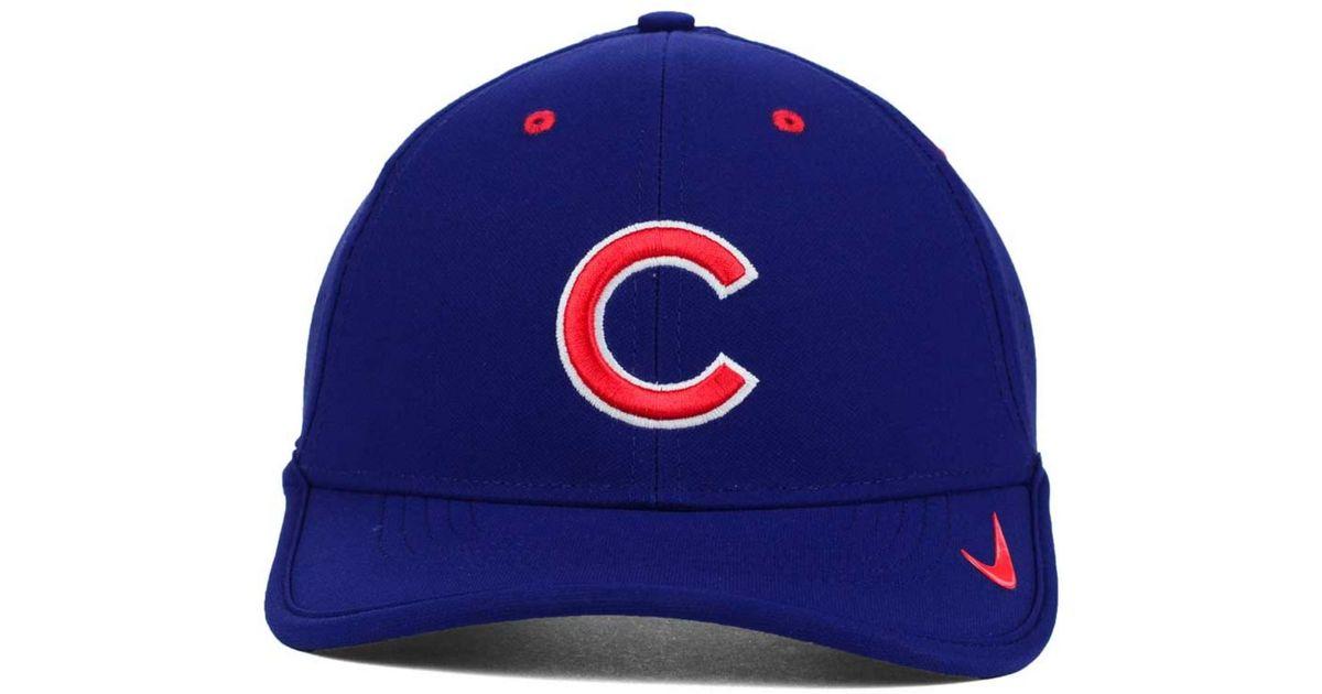 1d455da0ede25 Lyst - Nike Chicago Cubs Vapor Swoosh Adjustable Cap in Blue for Men