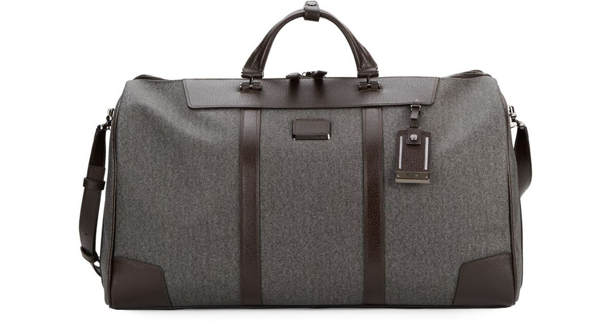658382391 Tumi Leather-Trim Coated Canvas Weekender in Gray - Lyst