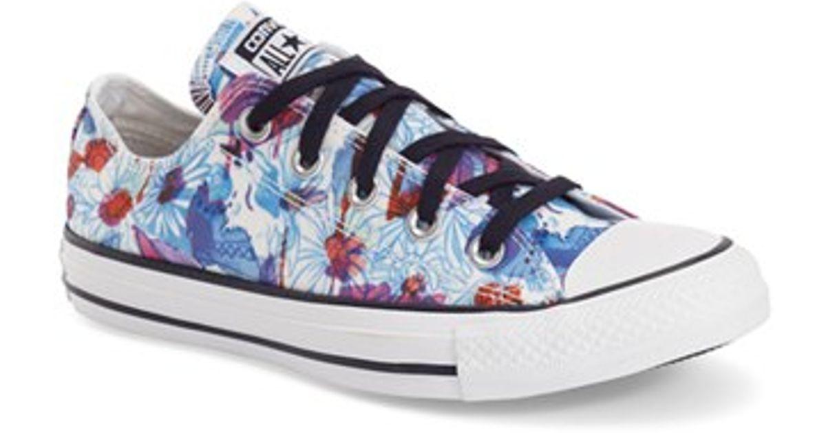 086eec8cdbcb Lyst - Converse Chuck Taylor All Star  daisy Print Ox  Low Top Sneaker in  Blue
