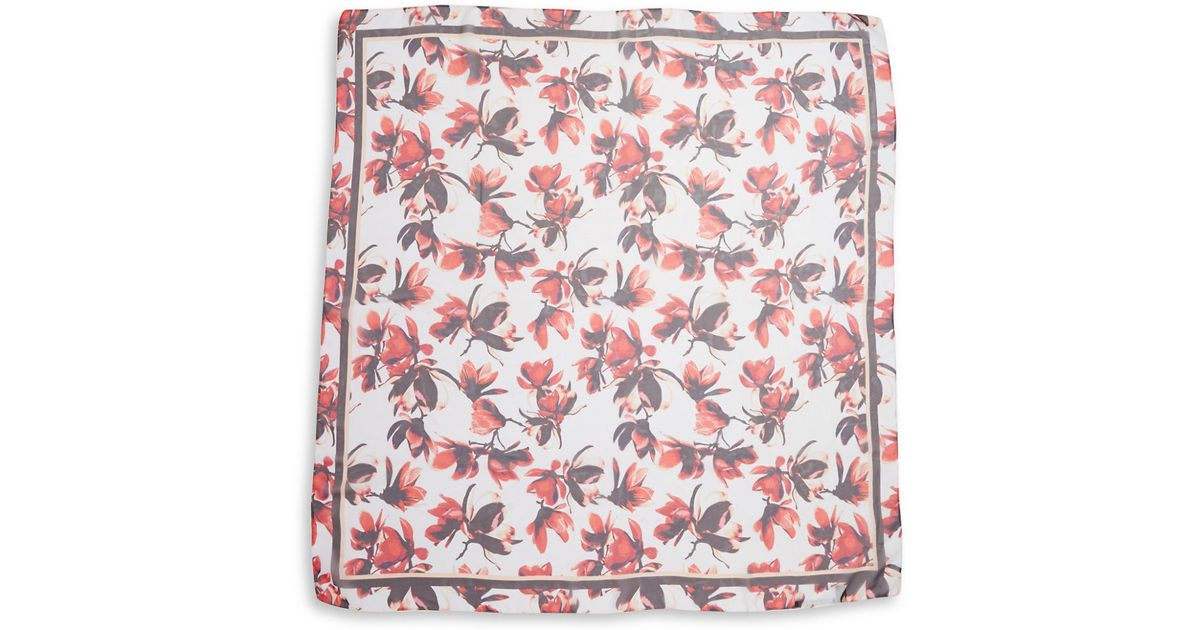 ivanka petal print convertible scarf in lyst
