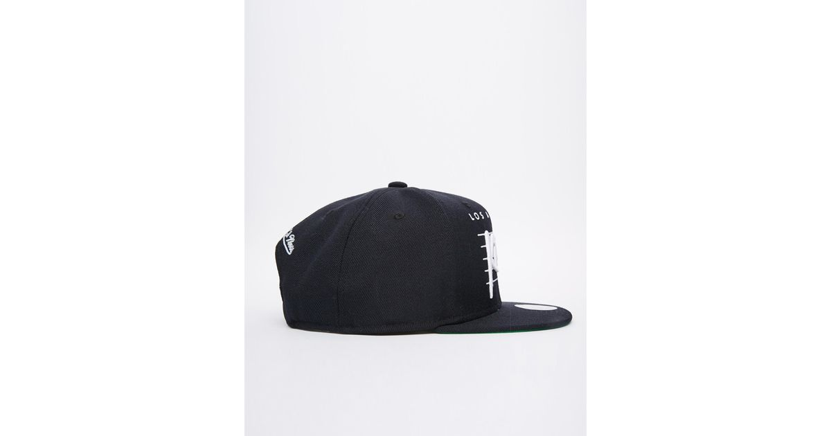 wholesale dealer 19a4d f9cd7 Mitchell   Ness La Kings Retro Snapback Cap in Black for Men - Lyst