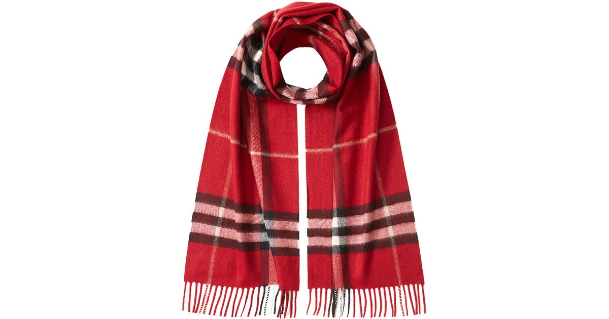 burberry check print scarf in lyst