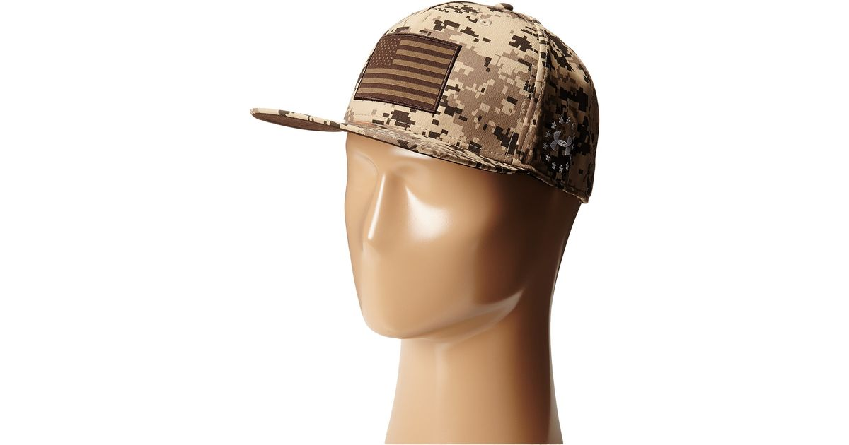 Lyst - Under Armour Ua Alter Ego Camo Flag Cap in Natural for Men 3825d940cc4