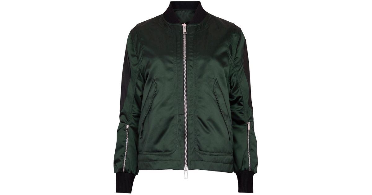 08116def Shell Trimmed Tim Leather Coppens Jacket Dark Green In Bomber 6qwwHXTxC