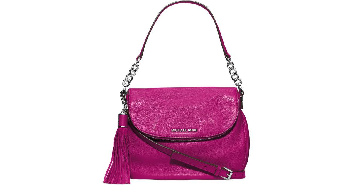 41cbe43b946e Lyst - Michael Kors Michael Bedford Medium Tassle Convertible Shoulder Bag  in Pink