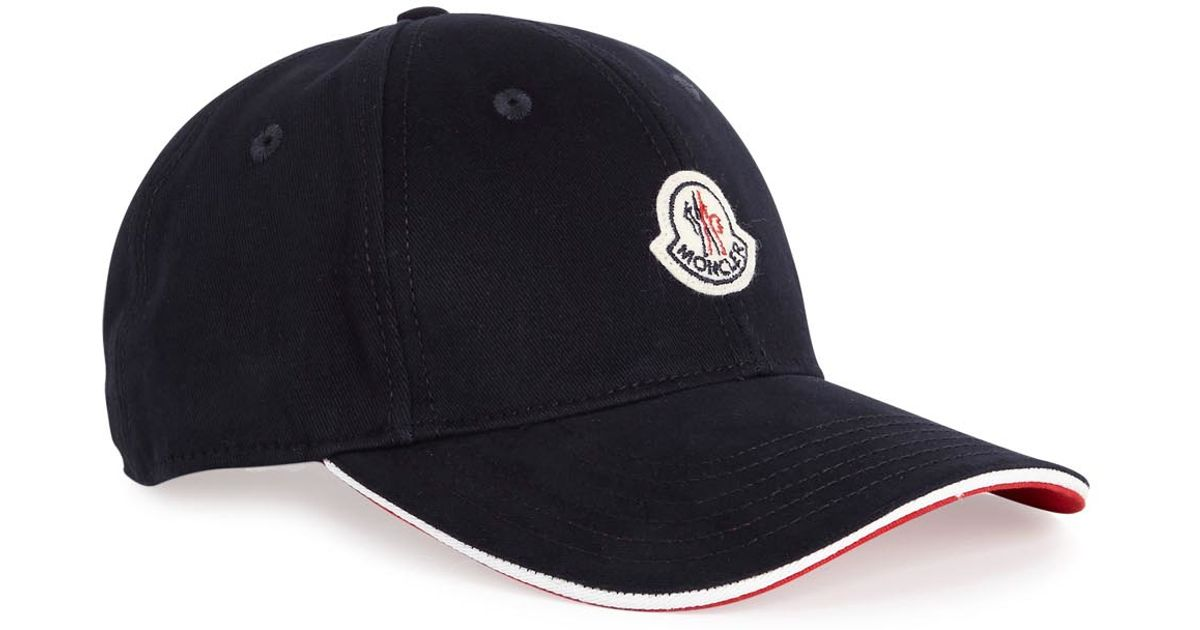 Moncler Navy Twill Cap in Blue for Men - Lyst 312d8621c21