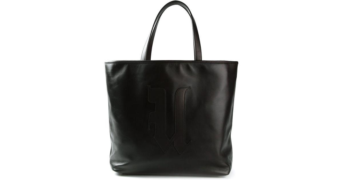 8eef40fcf3f Emanuel Ungaro Large Tote Bag in Black - Lyst