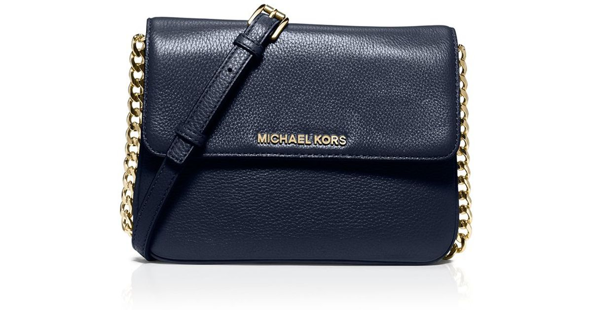 31a41c1a36bf76 MICHAEL Michael Kors Crossbody - Bedford Double Gusset in Blue - Lyst