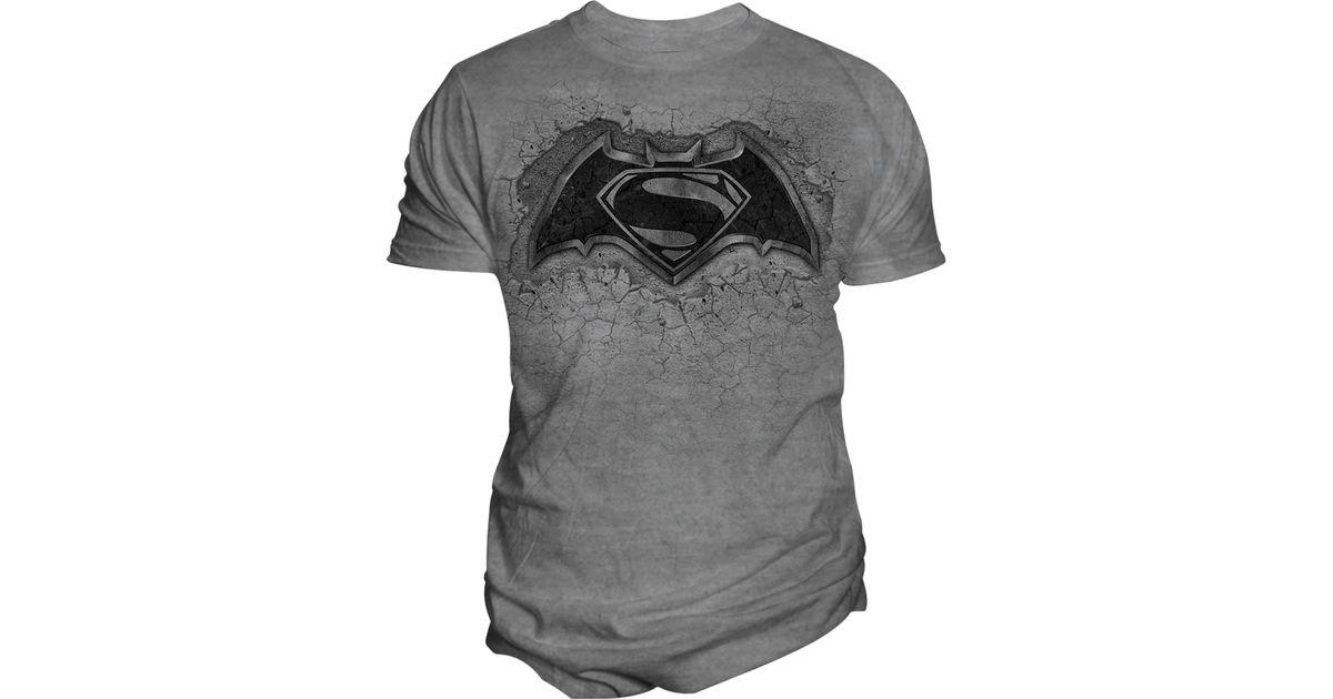 Changes men 39 s batman v superman cracked concrete logo for T shirt printing oxford